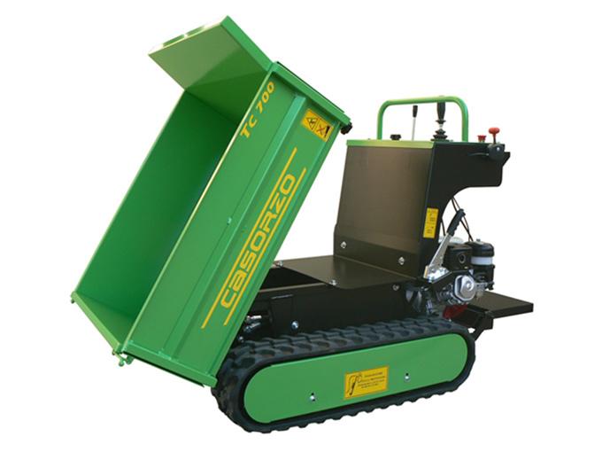 Motocarriola TC 700-ribaltamento-idraulico-cassone-agricolo